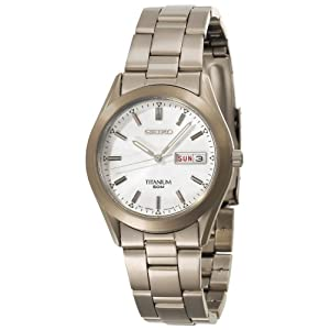 Click to buy Seiko Watches for Men: SGG705 Titanium Case and Bracelet Watch from Amazon!