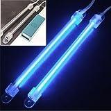 """2 Pcs Bleu Lampes Tube Néon Cathode Froide 6 1/4"""" Auto CCFL DC 12V"""