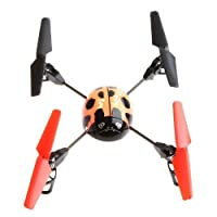 Beetle 4 Channel RC 2.4Ghz 4-axis Aircraft UFO 3D Tumbling with LCD Display Orange from WLTOYS