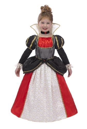 just pretend kids queen of hearts costume with hoop and choker large