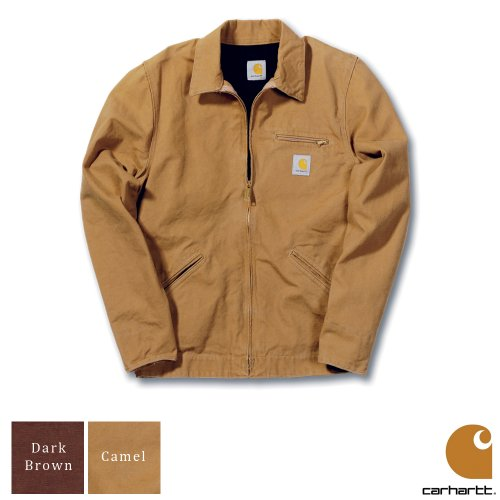 Carhartt Workwear Lightweight Detroit Mens Jacket Camel Brown Large