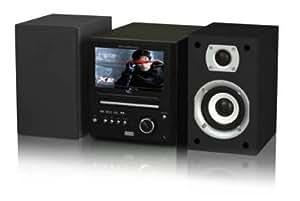 Yamada HTV 200XU Mini chaîne CD / DVD Compatible DivX / CD mp3 FM Décodeur TNT intégré USB