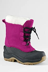 lands end Girls winter waterproof faux fur trim Snow Pack Boots (magneta- dark... by Lands