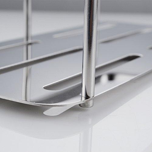 Kes a2220a bathroom corner triangular tub and shower caddy basket polished stainless steel home - Triangular bathtub ...