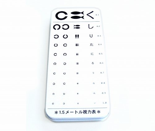 文具雑貨☆ブリキ【カンペンケース 視力表】