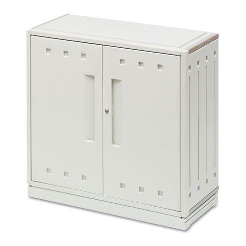 Iceberg - Snapease Storage Cabinet, Resin, 36W X 16D X 35H, Platinum 20663 (Dmi Ea