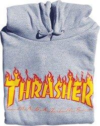Thrasher Flames Heather Grey Small Hooded Sweatshirt