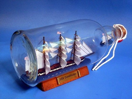 USS Constitution Ship in a Bottle