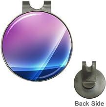 Purple Blue Wave Golf Ball Marker Hat Clip