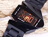 pellor COOL Oversized Licht Digital Sports Quartz Rubber Armbanduhr Herren-Armbanduhr Sport Unisex-Armbanduhr Laufuhr Digital Sport Stopuhr 6 Monate Garantie schwarz