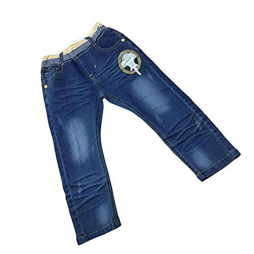 Zier Bambini Lungo Del Denim Dei Jeans Mutanda Casuale Pull Up Elastico Regolabile 86007