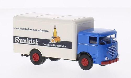 bussing-lu-11-f-koffer-sunkist-modellauto-fertigmodell-brekina-187