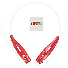 buy Micromax A300 Canvas Gold Genuine Wireless Sport Handsfree Stereo Bluetooth Universal Vibration Neckband Style Headset Headphone Earphone (Plus Free Microfiber Sticky Screen Cleaner) Red
