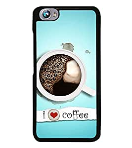 I Love Coffee 2D Hard Polycarbonate Designer Back Case Cover for Micromax Canvas Fire 4 A107