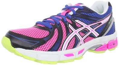 ASICS Women's GEL-Exalt Running Shoe,Bright Blue/White/Hot Pink,5 M US