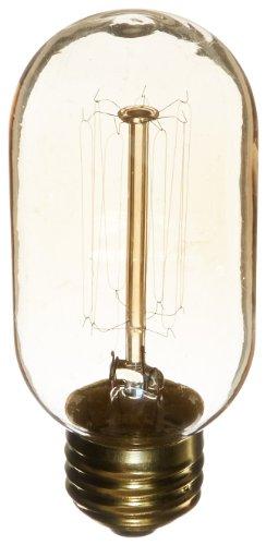 Heirlume Hl-2040Wpack12 Vintage Edison Bulb 40-Watt With Medium Base And Tubular Shape, 7.2-Inch X 4.3-Inch, 12-Pack