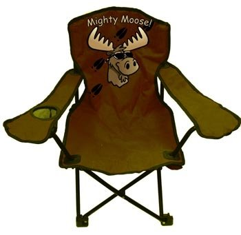 Kids Folding Camp Chair, 3-pc Set in 2 Colors (Mighty Moose Design) (Cup Holder)