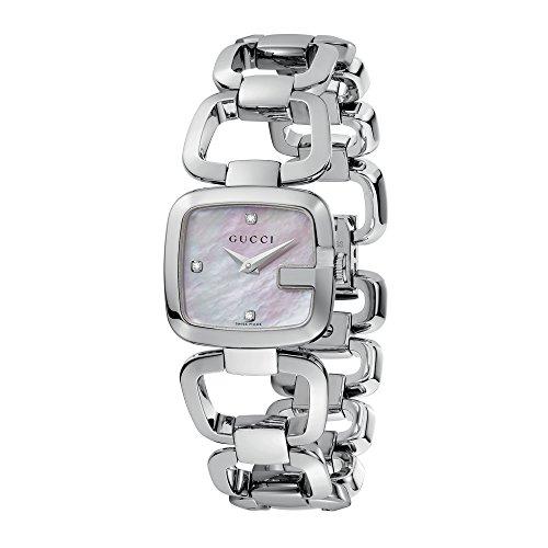 Gucci  YA125502 - Reloj de cuarzo para mujer, con correa de acero inoxidable, color plateado