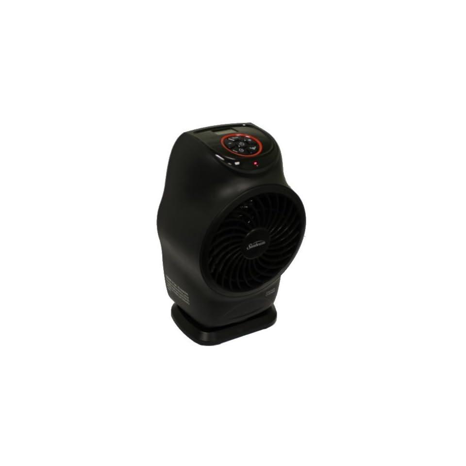 New SUNBEAM SFH613 LCD Electric Fan Forced Portable Heater Oscillation Black