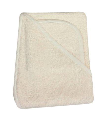 Imagen de American Baby empresa 100% algodón orgánico Terry Juego de toallas con capucha, color crudo
