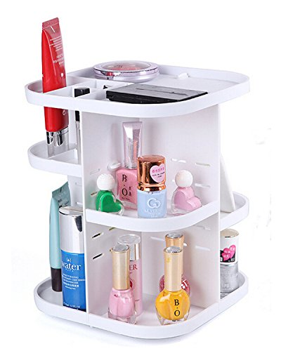 Fontaine Tabletop Bath Makeup Cosmetic Organizer Save Space Rotating 360 Degrees