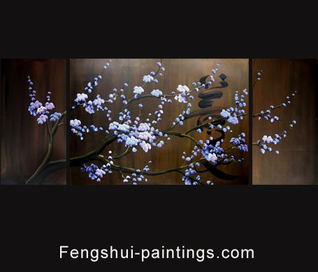 Oriental Painting, Oriental Artwork, Cherry Blossom Oil Painting 13