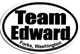 """""""Team Edward, Forks, Washington"""" - Twilight Oval Sticker (Ships Within 24 Hrs - Excluding Weekends & Holidays)"""