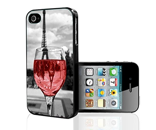 Wine Glass in Paris Phone Case [Customizable by Buyers] [Create Your Own Phone Case] Slim Fitted Hard Protector Cover for iPhone 6