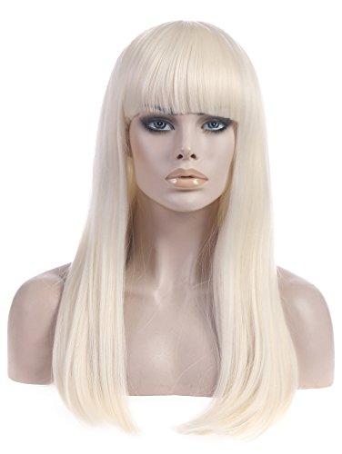 SARLA Wig Free Hair Cap + Free Hair Comb + Cosplay Wig Party Wigs Lady Gaga Costumes Halloween Wigs (Lady Gaga Costume Halloween)