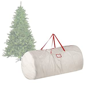 Elf Stor Premium White Holiday Christmas Tree Storage Bag Large For 9 Foot Tree