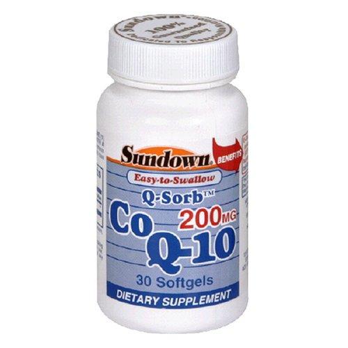 Sundown. Co Q-10 200 Mg Softgels, 30 ct (Co Q10 Sundown compare prices)