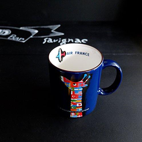 カフェック cafe,q サヴィニャック マグカップ フランスを代表するイラストレーター・サヴィニャックのエスプリの効いた手書き風のアートマグ (エールフランス(キリン))