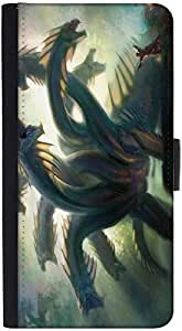 Snoogg Multi Head Dragons Designer Protective Phone Flip Case Cover For Apple Iphone 6S