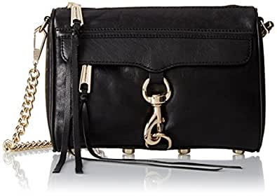 Rebecca Minkoff Mini MAC Convertible Cross-Body Handbag,Black,One Size