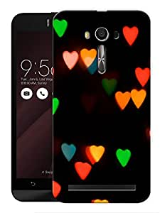 "Humor Gang Blurry Colorful Hearts Printed Designer Mobile Back Cover For ""Asus Zenfone Selfie"" (3D, Matte, Premium Quality Snap On Case)"