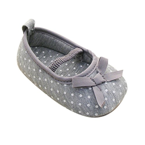 Weixinbuy Baby Girl's Cotton Polka Dot Walking Soft Sole Crib Shoes L