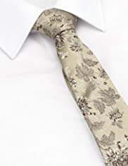 Autograph Pure Silk Floral Embroidered Tie [T12-5939-S]