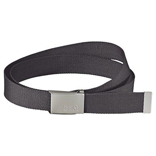 Jack Wolfskin Cintura Webbing Belt Wide, Grigio (Dark Steel), Taglia unica