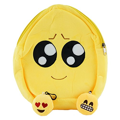 Best Emoji Backpack for Boys & Girls, Rave or School Ready Winky Face Emoji Bag with Free Keychain (Wish Eyes)