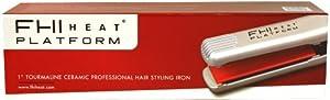 """WHITE 1"""" FHI Heat Platform Ceramic Hair Styling Flat Iron 7001 Thermal Mat Case"""