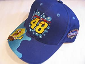 Jimmie Johnson #48 Blue Sponge Bob Lowes Racing Hat Cap Racing Champions Edition One... by Racing Champions
