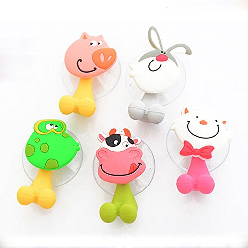 GreenSun(TM) 1X Cute Cartoon Animal Toothbrush Holder Suckers Silicone Toothbrush Rack Hooks (Fire Truck Toothbrush Holder compare prices)