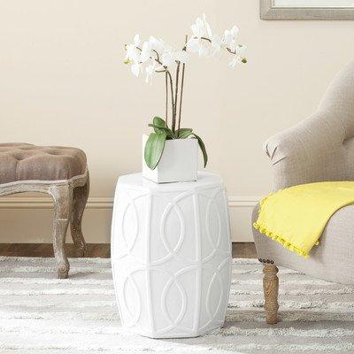 Gartenhocker Seram Farbe: Weiß antik
