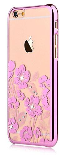 Devia® Crystal Rococo Series Unique & Fashion Gradient Design Decorated with Original Swarovski Element Hard Transparent Case for iPhone 6 4.7 & iPhone 6s (Pink)