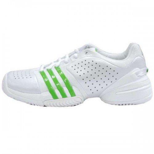 ADIDAS Barricade Adilibria Ladies Tennis Shoes, White/Green, UK4