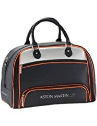 Aston Martin Boston Bag (Black With Orange)