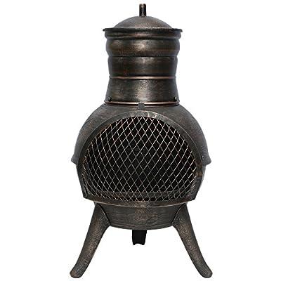 La Hacienda Squat Steel Cast Iron Chimenea Patio Heater
