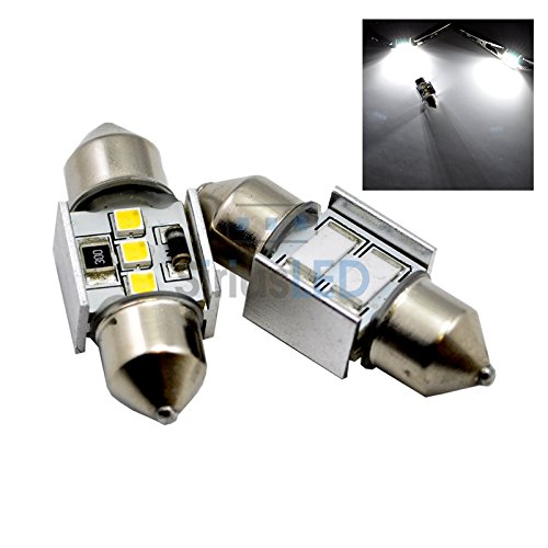 31Mm 3W Led No Error Canbus Festoon White Interior Map Dome License Plate Light Bulbs