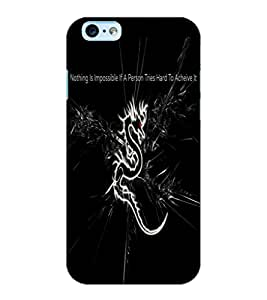 ColourCraft Dragon Image with Quote Design Back Case Cover for APPLE IPHONE 6S