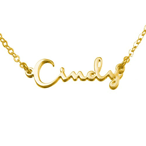 VALYRIA Stainless Steel Personalized Name Necklace - Custom Made with any name! (Custom Jewelry Necklace compare prices)